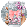 App Pink Diamond Lace Bow Keyboard APK for Kindle