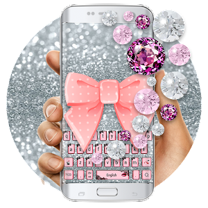 Cute beautiful pink diamonds Lace Bow skin for you my lovely girl APK Icon