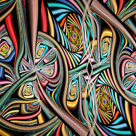 Julian Polar Portal by Peggi Wolfe - Illustration Abstract & Patterns ( polar, abstract, wolfepaw, gift, unique, bright, illustration, fun, digital, print, decor, pattern, color, unusual, julian, fractal )