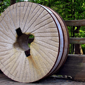 Mill Wheel by Jeff Dalton - Artistic Objects Other Objects ( picture, mill wheel, wheel, fence], pictures, trees, stone, photography )