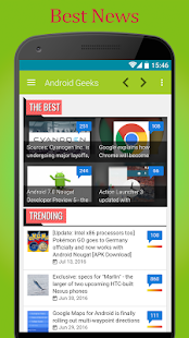 Geeks in Android - screenshot