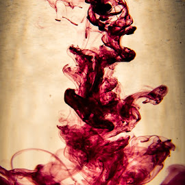 The reckoning  by Martin Jensen - Abstract Water Drops & Splashes ( wine, purple, explosion, spring )