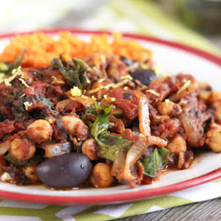 Mediterranean Chickpeas With Sweet Potato Mash