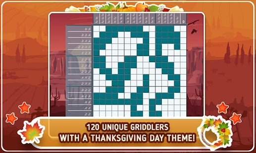 Turkey Day Griddlers Free - screenshot