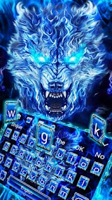 Blue Fire Grim Wolf Keyboard Theme Apk Download Free for PC, smart TV