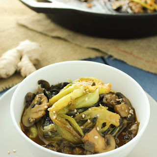 Easy Bok Choy and Mushroom Stir Fry