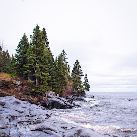 Edge of Lake Superior by Abbie Goyette - Landscapes Beaches ( #landscapes, #lake, #nautre, #lakesuperior, #water )