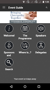 Institute of Osteopathy Events - screenshot