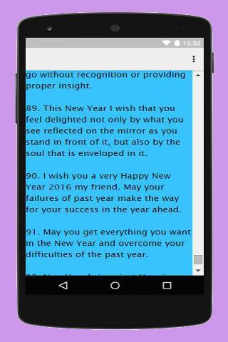 android Happy New year 2016 Wishes Screenshot 1