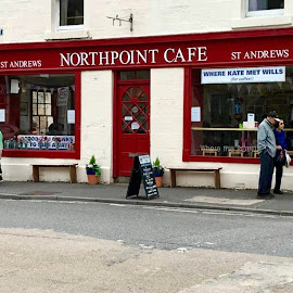 Where Kate Met Wills by Jennifer  Loper  - City,  Street & Park  Markets & Shops ( kate, coffee, princess di's son, prince william, st. andrews, scotland, wills,  )