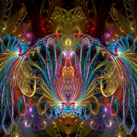Guiding Light by Peggi Wolfe - Illustration Abstract & Patterns ( abstract, wolfepaw, color, bright, symmetry, fun, fractal, light, digital )