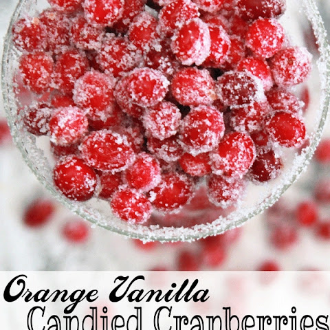 Orange Vanilla Candied Cranberries