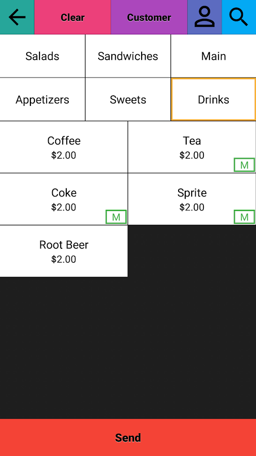 Restaurant Point of Sale | Cash Register - W&O POS Screenshot 1