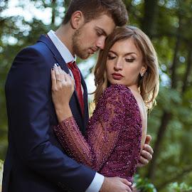 Duo by Dan Stroie - People Couples ( nature, hug, couple, bride, groom,  )