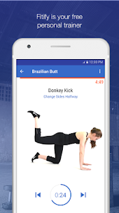 Legs & Butt Workouts by Fitify Fitness app screenshot for Android
