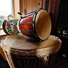 set to the beat by Hayley Warriner - Artistic Objects Musical Instruments ( music, native, drum, people )