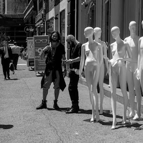 Hanging Out by VAM Photography - Black & White Street & Candid ( b&w, culture, nyc, street photography, fashion )