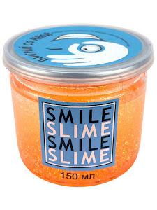 Слайм-лизун Оранжевый неон, 150 мл.
