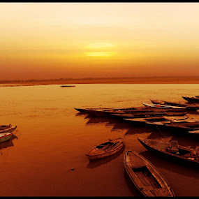 The Noah's Ark... by Sudipta Jana - Transportation Boats ( noah, sunset, boat, evening, ark,  )