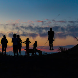 uplifting sunset by Adrian Ramirez - People Family ( clouds, sky, levitation, sunset, silhouette )
