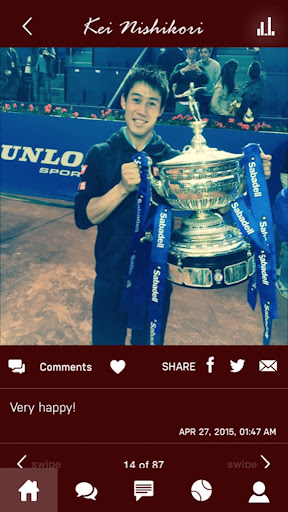 Kei Nishikori Official APP - screenshot