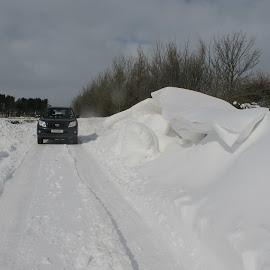 Snowdrift by Vicki Clemerson - Landscapes Weather ( winter, snow, white, weather, landscape, snowdrift )
