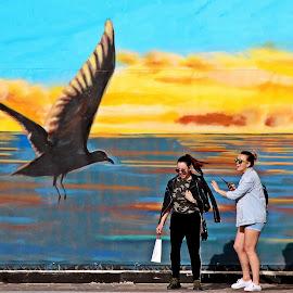 Wonder! by Francis Xavier Camilleri - City,  Street & Park  Street Scenes