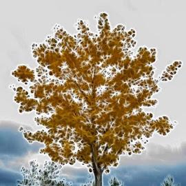 Lightening Tree by Amanda Lehning - Digital Art Things ( nature, tree, electric, digital art, landscape )