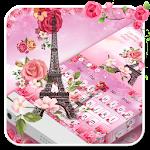 Pink Paris Eiffel Tower Keyboard Icon