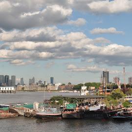 Illustration by J & M - City,  Street & Park  Skylines ( sky, illustration, image, view, city )