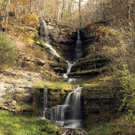 waterfall at Dogwood Nature Walk by Jason Jeep Rutter - Landscapes Waterscapes