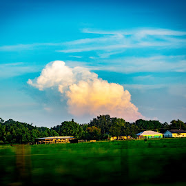 Out of the window by James Newberry - Landscapes Travel ( clouds, sky, blue, colorful, rural life, outdoor, rural )