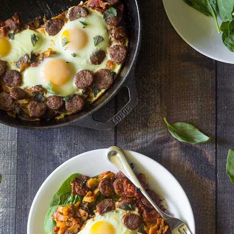 Sausage Pizza Sweet Potato Breakfast Hash {Paleo & Whole30}