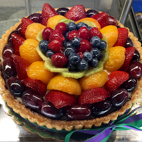 Fruit Tart with Ribbon by Lope Piamonte Jr - Food & Drink Candy & Dessert