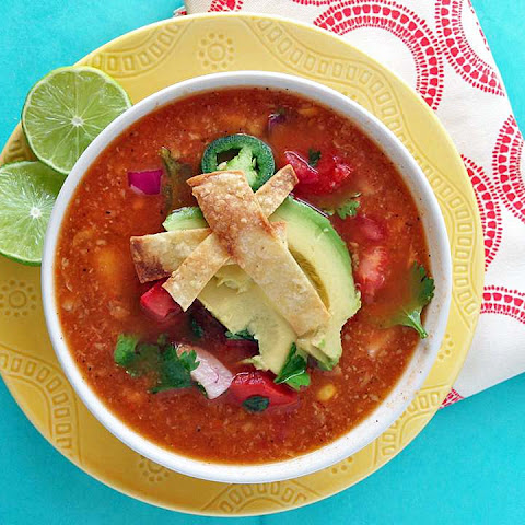 Chicken Tortilla Soup with Fire Roasted Tomatoes