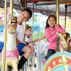 Fun Fair by Teresa Cerbolles - City,  Street & Park  Amusement Parks