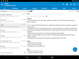 Screenshot of Tasks & Notes for MS Exchange