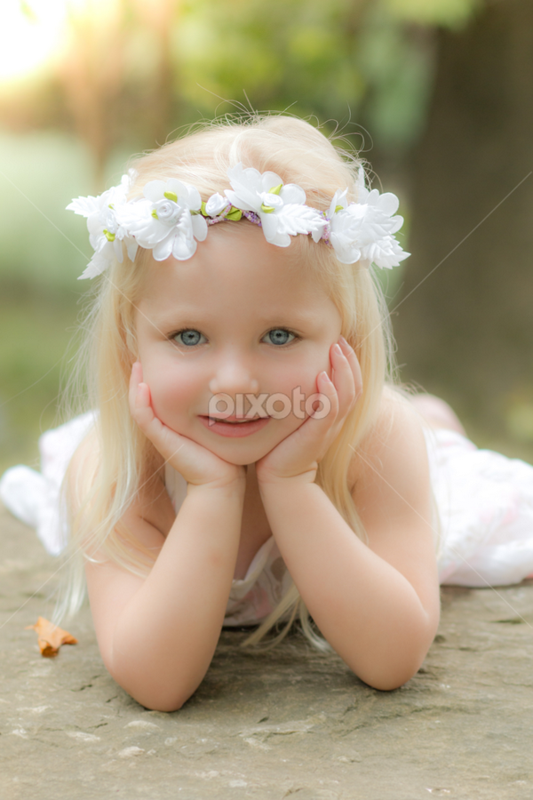 Summer portrait by Judy Deaver - Babies & Children Child Portraits ( child portrait, summer, flowers, portrait,  )