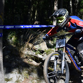 downhill by Ester Ayerdi - Sports & Fitness Cycling ( downhill cycling, downhill, cycling, sport, championship, norway )