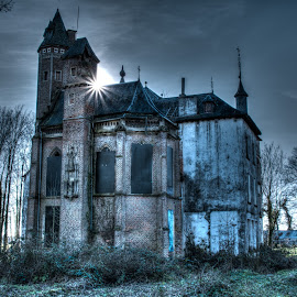 Abandoned castle by Philip Phillou - Buildings & Architecture Architectural Detail ( creepy, hdr, castle, belgium, landscape, sun, abandoned )
