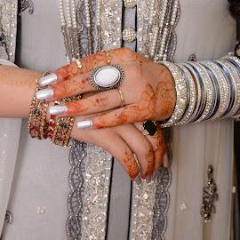 by Hafsa Syed - Wedding Bride ( hand, wedding, jewelry, bride, photography )