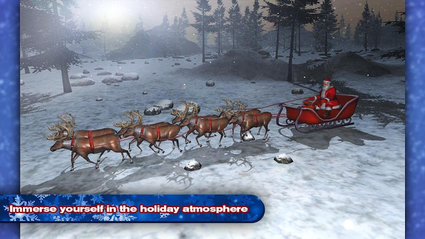 android 4x4 SUV Deer Santa Claus Screenshot 0