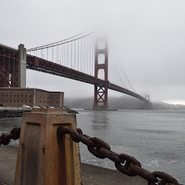 Golden Gate by Craig Higgins - Buildings & Architecture Bridges & Suspended Structures ( #golden gate, #bridge, #san francisco, #dockside, #fog,  )
