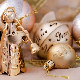 Golden Angel by Susan Pretorius - Public Holidays Christmas