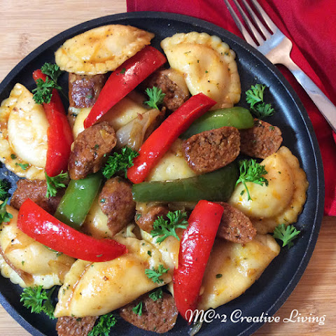Perogies with Italian Sausage and Peppers