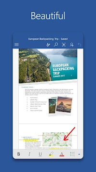 Microsoft Word APK screenshot thumbnail 1