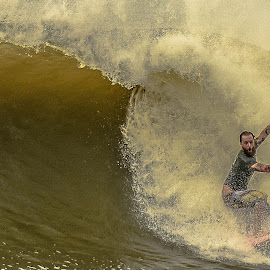 Big Surf by Prentiss Findlay - Sports & Fitness Surfing ( irma surf, irma, surfing, surfing hurricane irma, big surf )