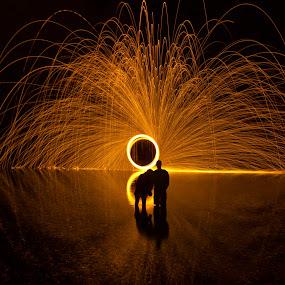 The River Lovers by Shane Vandenberg - Abstract Light Painting ( Steel Wool, Fire, Sparks )