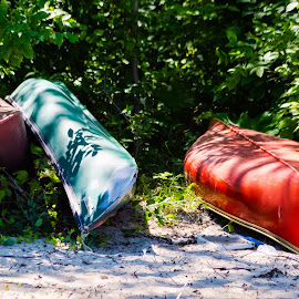 Canoes by Dave Lipchen - Transportation Boats ( canoes )