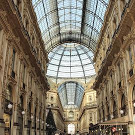 Galleria Vittorio Emanuelle 11 Arcade by Carol Lauderdale - Buildings & Architecture Public & Historical ( arcades, milan, italy, vittorio emanuele 11, shopping )